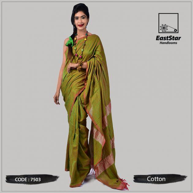 Handloom Cotton Saree 7503