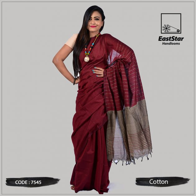 Handloom Cotton Saree 7545