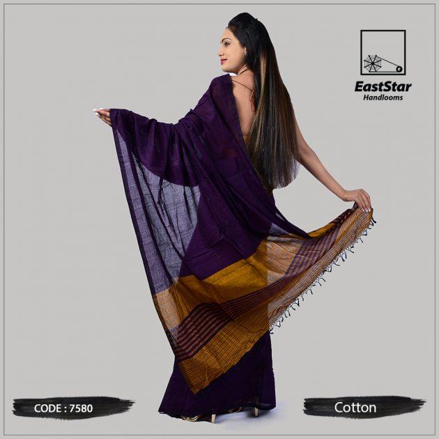 Handloom Cotton Saree 7580