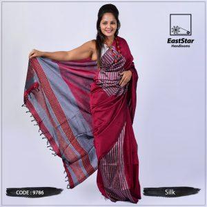 Handloom Silk Saree 9786