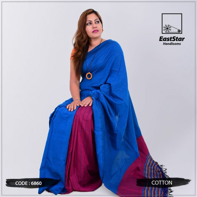 Code #6860 Handloom Cotton Saree