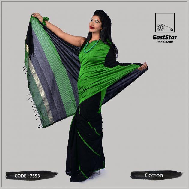 Handloom Cotton Saree 7553