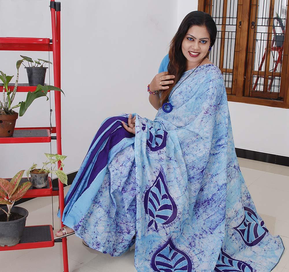 best simple batik saree ceylon